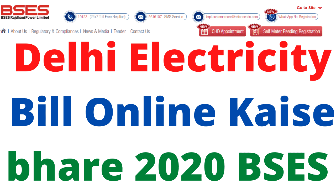 Delhi Electricity Bill Online Kaise bhare 2020 BSES