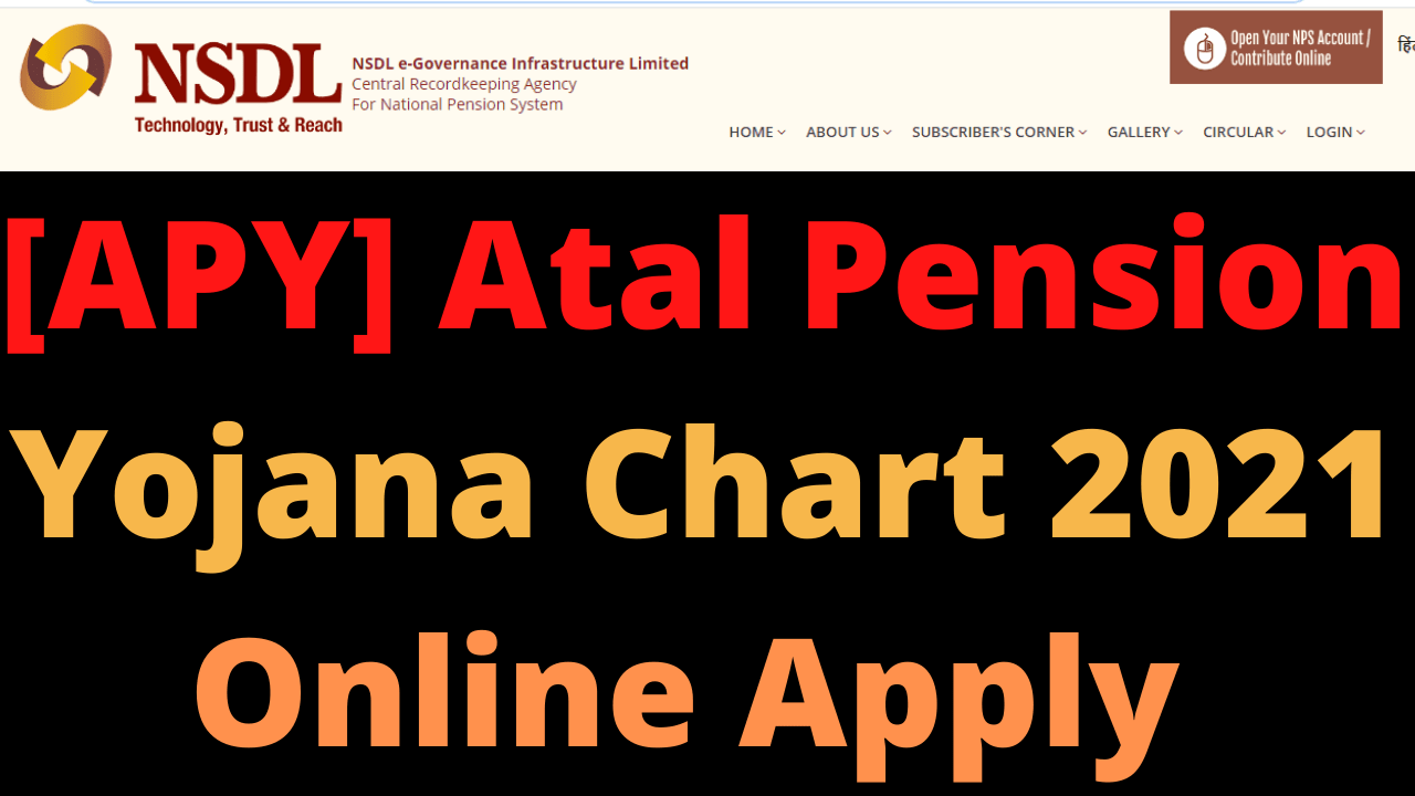 [APY] Atal Pension Yojana Chart 2021 Online Apply