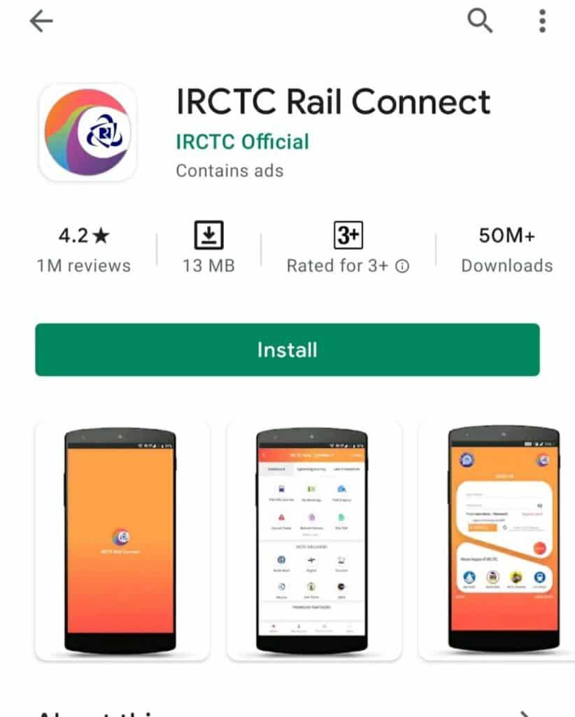 IRCTC train PNR status