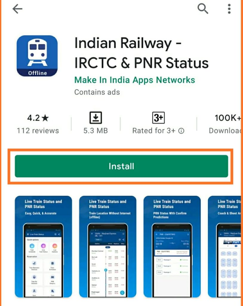 Indian railway - IRCTC & PNR status
