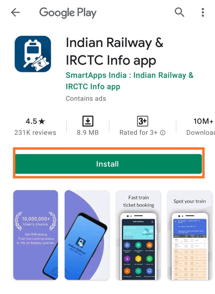 Live train IRCTC PNR status & Indian rail info