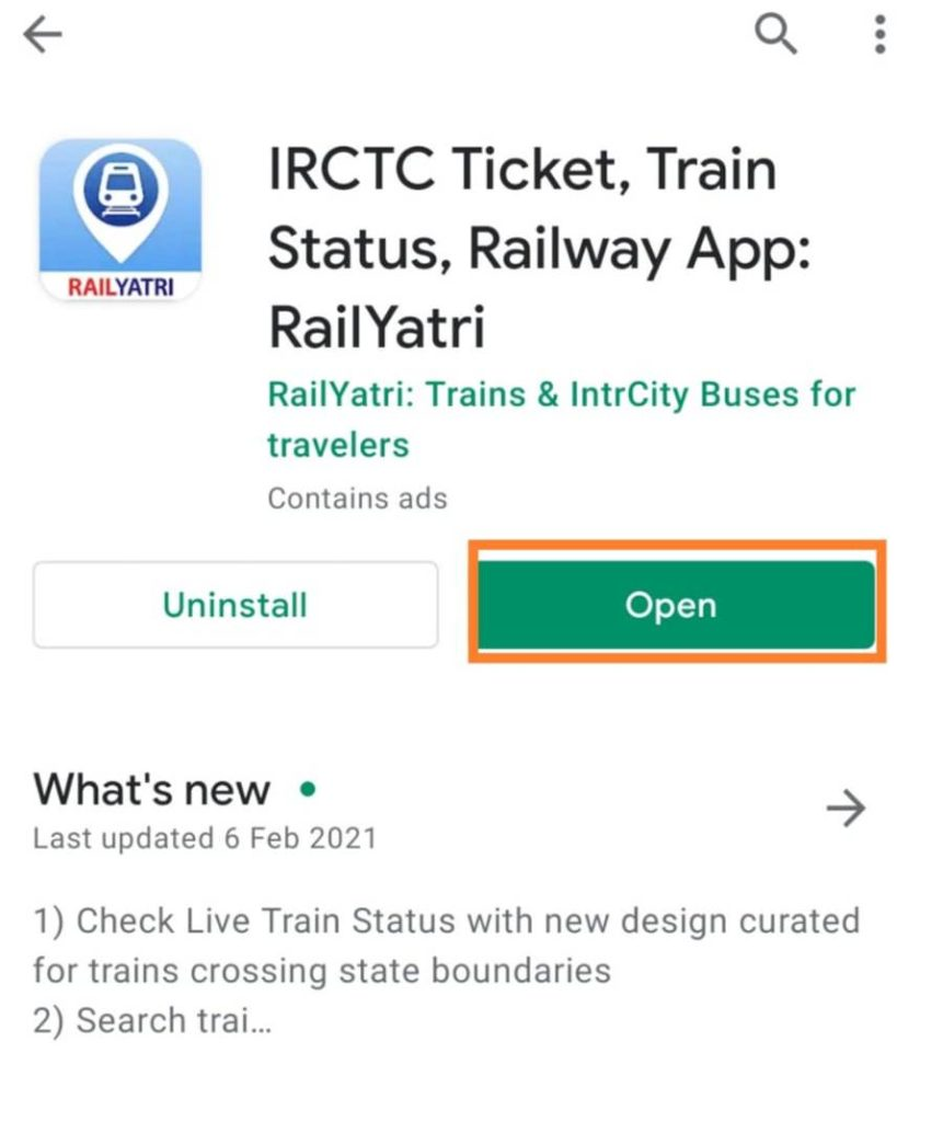 Railyatri app check train staus